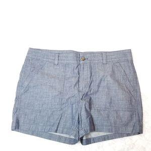 Banana Republic Ladies Size 14 Blue Shorts - 100%